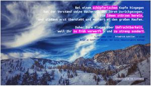 Friedrich Schiller über das Denken